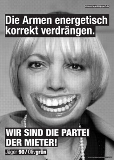 Fressen-Plakate 2013: Grüne, Claudia Roth