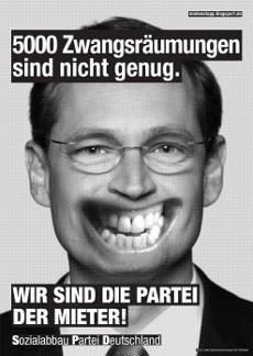 Fressen-Plakate 2013: SPD, Michael Müller