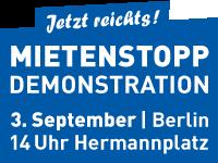 Banner Mietenstopp Demo 3.9. 200x150