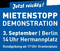 Banner Mietenstopp Demo 3.9. 200x170