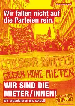 Fressen-Plakate 2013: Wir sind die MieterInnen!
